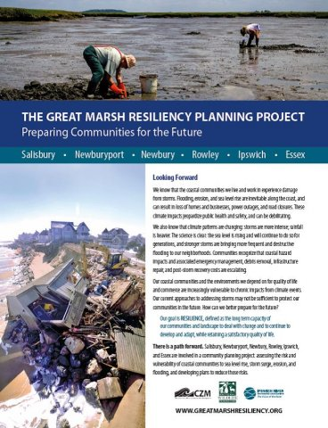 Great Marsh Resiliency informational brochure.